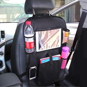 Image 2 - 2017 auto Oxford Tuch Sitz Zurück Speicher Tasche Trinken Phone Organizer Netze Auto Stil Durable Auto Zubehör Innen Masse Liefert
