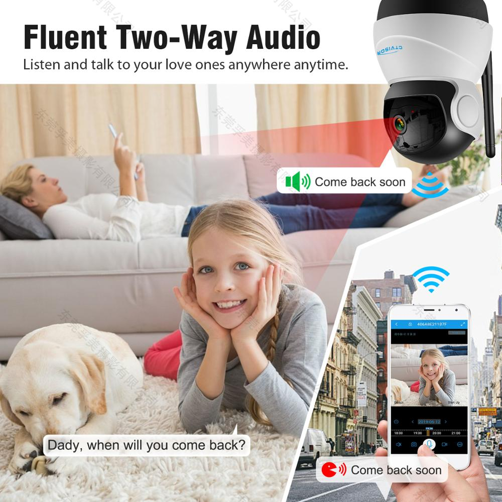 Image 4 - IP Wireless Security PTZ WiFi Camera 1080 PHD Two Way Audio Remote Access/Motion Detection/SD Card Storage/3D Navigation-in Surveillance Cameras from Security & Protection