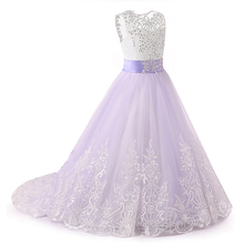 Flower Girl Dresses With Sash Holy First Communion Dresses for Girls Children Dress for Wedding Party Kids Gowns vestido daminha