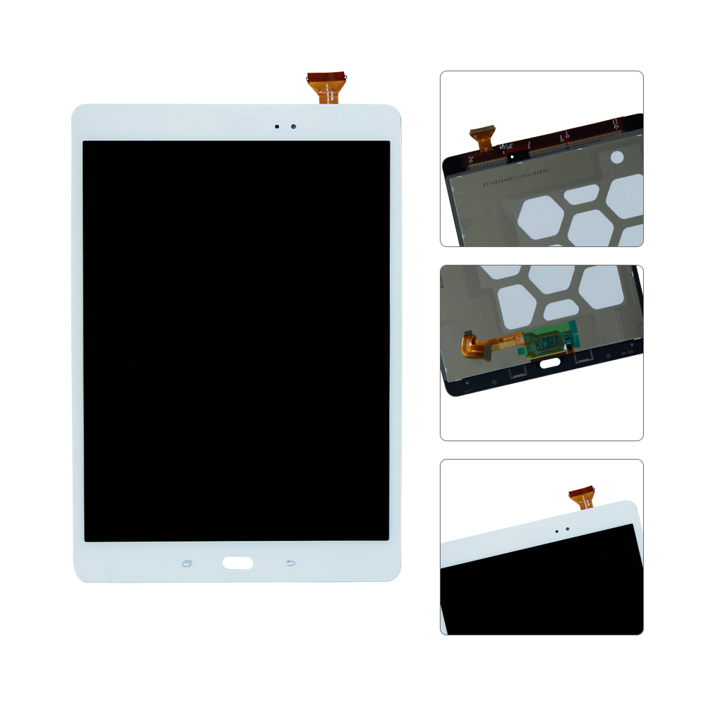 For Samsung Galaxy Tab A SM-T550 T550N T555 LCD Display Touch Screen Digitizer Assembly Replacement White Color new for samsung galaxy tab a 9 7 sm t550 t550 wifi white touch screen digitizer repairment parts tablet pc free shipping