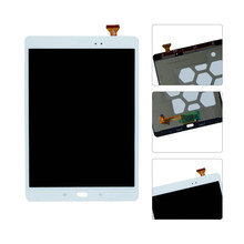 Voor Samsung Galaxy Tab EEN SM-T550 T550N T555 LCD Display Touch Screen Digitizer Vergadering Vervanging Wit Kleur(China)