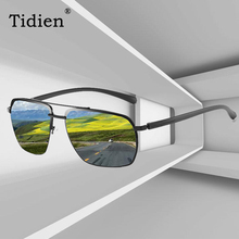 Tidien Metal Sunglasses Men Vintage Fashion Brand Luxury Mens Driving Glasses Polarized Fishing 201902