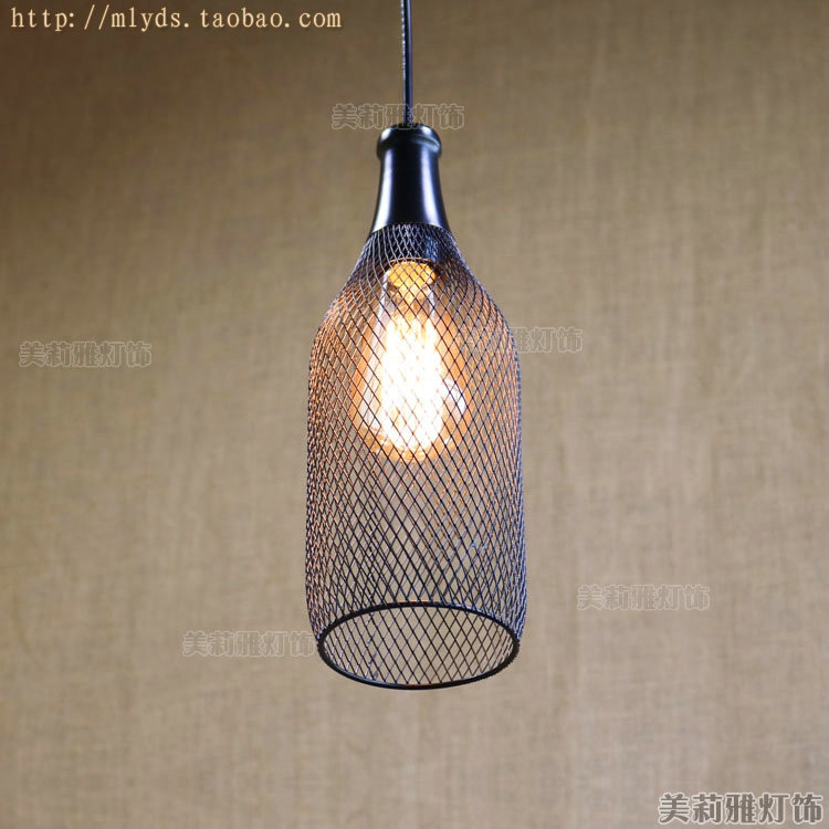 Retro loft Style Vintage Lamp Industrial Lighting Fixtures In Bottle Net Edison Pendant Light Shape Hanglamp Lamparas iwhd loft style creative retro wheels droplight edison industrial vintage pendant light fixtures iron led hanging lamp lighting