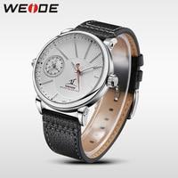 Weide top marca de luxo simples negócios relógio automático masculino pulseira couro quartzo relógios à prova dcasual água relógio moda casual|watch brand men|watch casual|watch fashion men -