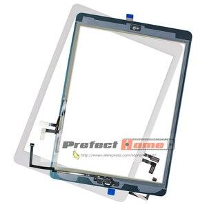 Image 3 - ทดสอบดีสำหรับiPad Air1 Touch Screen Glass Digitizer & กาว + Home Flexcableเสร็จA1474 A1475 A1476