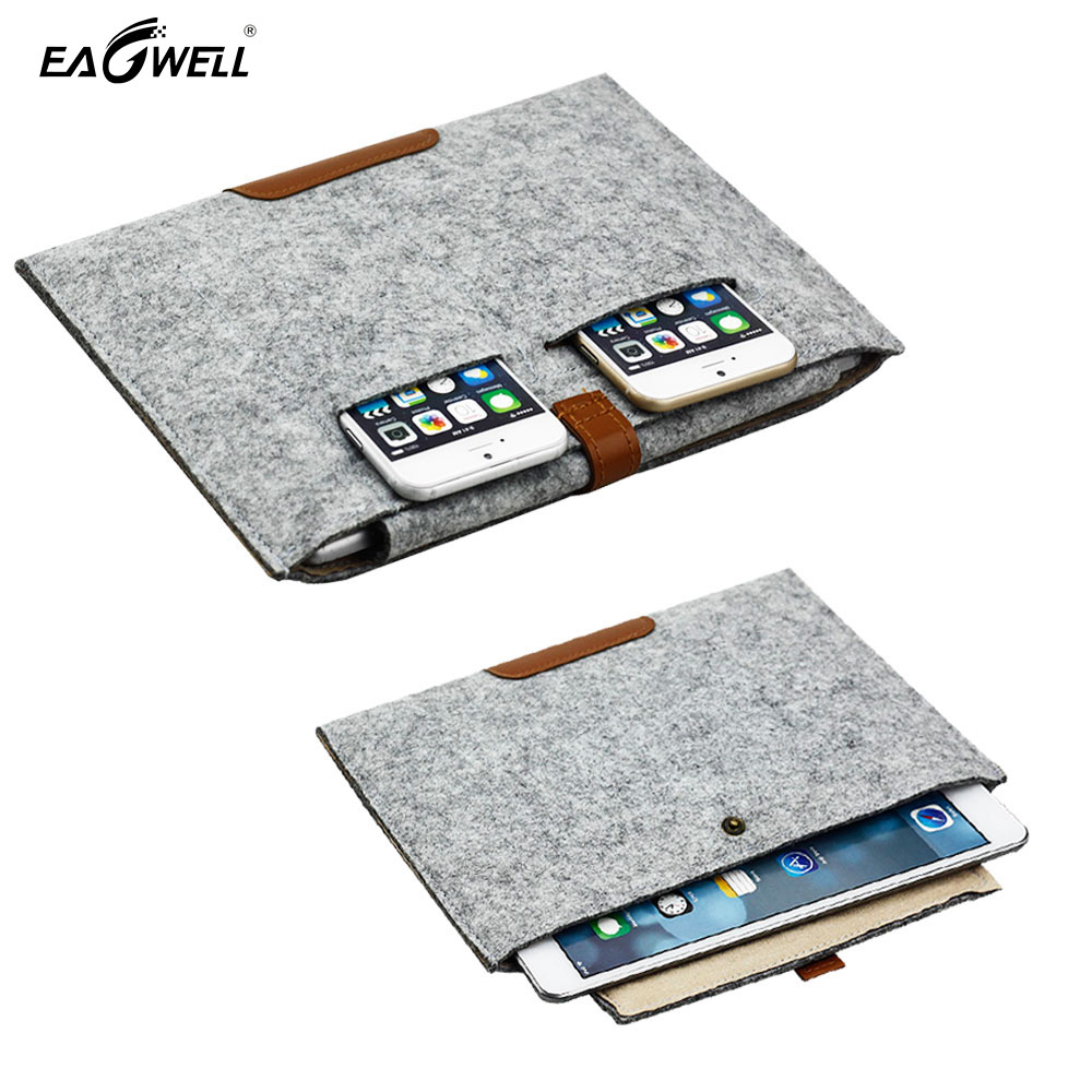 Felt Tablet PC Sleeve Pouch Bag For Apple iPad Mini 1 2 3 4 Case Cover Capa Para HandBag for 7.9 inch Pad Tab Free Drop Shipping