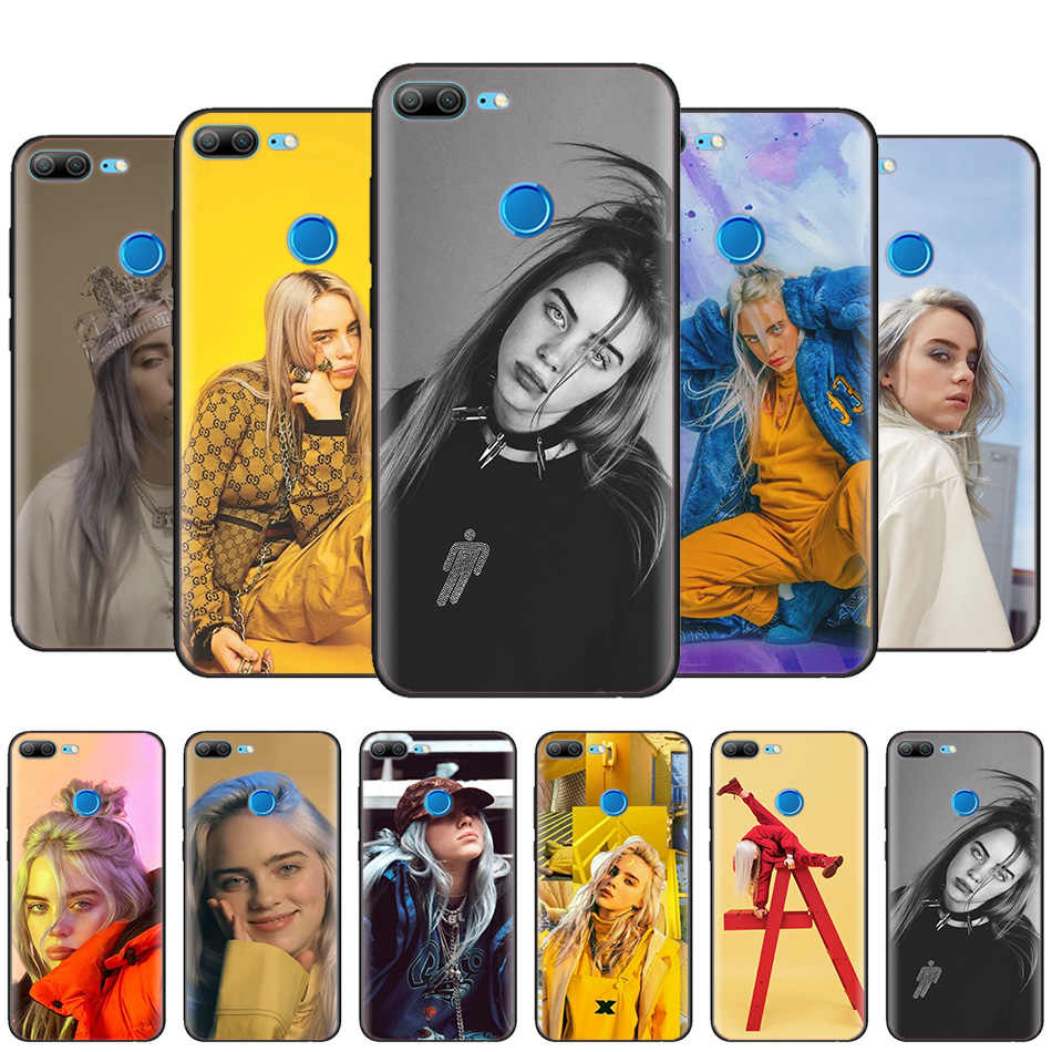 Black Silicone Case Bag Cover for Huawei Honor 10i Y7 Y6 Y5 Y9 8X 8C 8S 9 10 Lite Pro 2018 2019 Y9S Y7P Billie Eilish Indepe