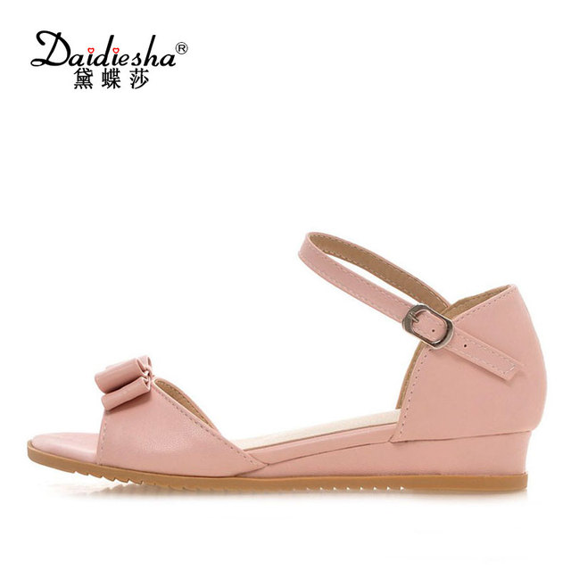 2a33c1b21f17a2 Daidiesha Best Price Women s Flat Sandals Sweet Butterfly-Knot Summer  Footwear Soft Touch Casual Ladies Beach Shoes Size 31-43