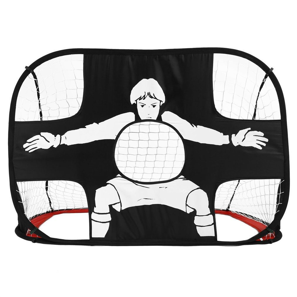 Foldable Football Gate Net Goal Gate Extra-Sturdy Portable Soccer Ball Practice Gate For Children Students Soccer Training Hot