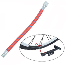 16.5cm Bicycle Pump Extension Air Hose Tube Flexible Durable High Pressure Inflating Rotating Adapter