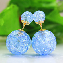 Double Pearl Stud Earrings