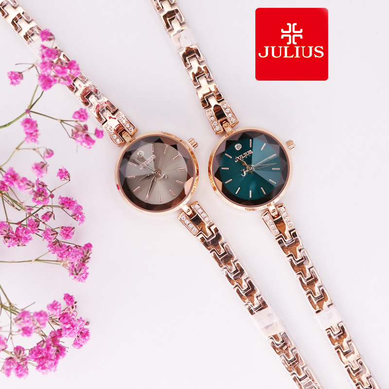 Small Julius Women's Watch Japan Quartz Elegant Hours Fashion Dress Chain Bracelet Birthday Girl's Birthday Gift Original Box small women s watch japan quartz fashion hours bracelet cutting glass rhinestone birthday girl s christmas gift julius box