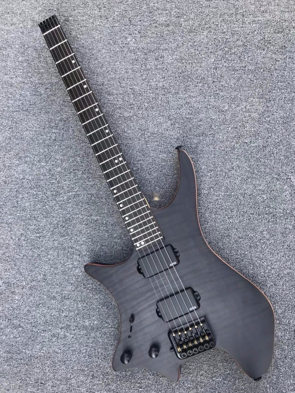Wholesale New Left Handed Headless Guitar Electric Guitar In Grey Black 180321 other color is available стоимость