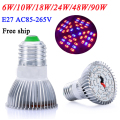 LED Grow Light Fitolampa 6W/10W/18W24W/48W/90W LED Plant Light for Flower plant Aquarium Hydroponics AC85-265V Grow Tent Lamp