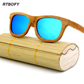 New fashion Men Women Glass Bamboo Sunglasses au Retro Vintage Wood Lens Wooden Frame Handmade.2140
