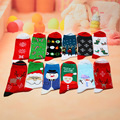 Children's Christmas Element Socks Cartoon Character Four Seasons Cotton Sock Variety Pattern Available Cute Baby Socks