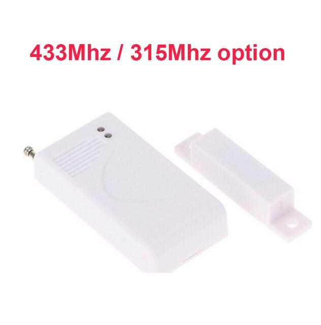 433mhz Wireless Door Magnetic Sensor Alarm Option 315mhz No Battery