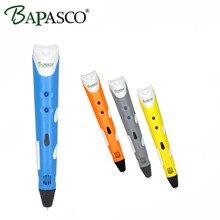 New Hot Sale BAPASCO 3D pen 1st generation with ABS filament 3D printing pen kids DIY Graffiti pen 3D doodle best christmas gift