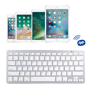 Image 3 - Russian French Arabic Spanish Wireless Keyboard Bluetooth 3.0 Keyboard for iPad Tablet Laptop Support iOS Windows Android System