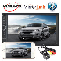 2Din Mirror Link Screen Bluetooth 10 Languages Car Radio Rear View Camera 7inch Touch Screen MP5 Player Mirror For Android Phone