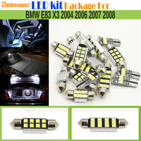 Buildreamen2 Car Canbus LED Kit Package 2835 Interior LED Bulb White Map Dome License Plate Trunk Light For BMW E83 X3 2003 2010