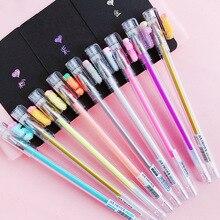 10pcs Highlighting colors Gold Silver pen set 9 different Glitter color pens for black album decoration Stationery School F566