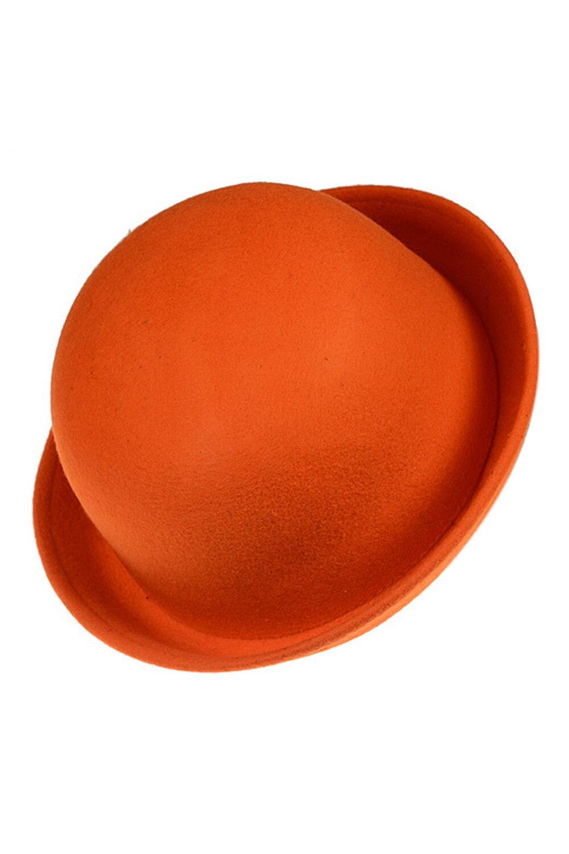Fashion Vintage Women Fedoras Dome Hat Roll Brim Bowler Derby Hat Headwear  Orange a80e29c45b0