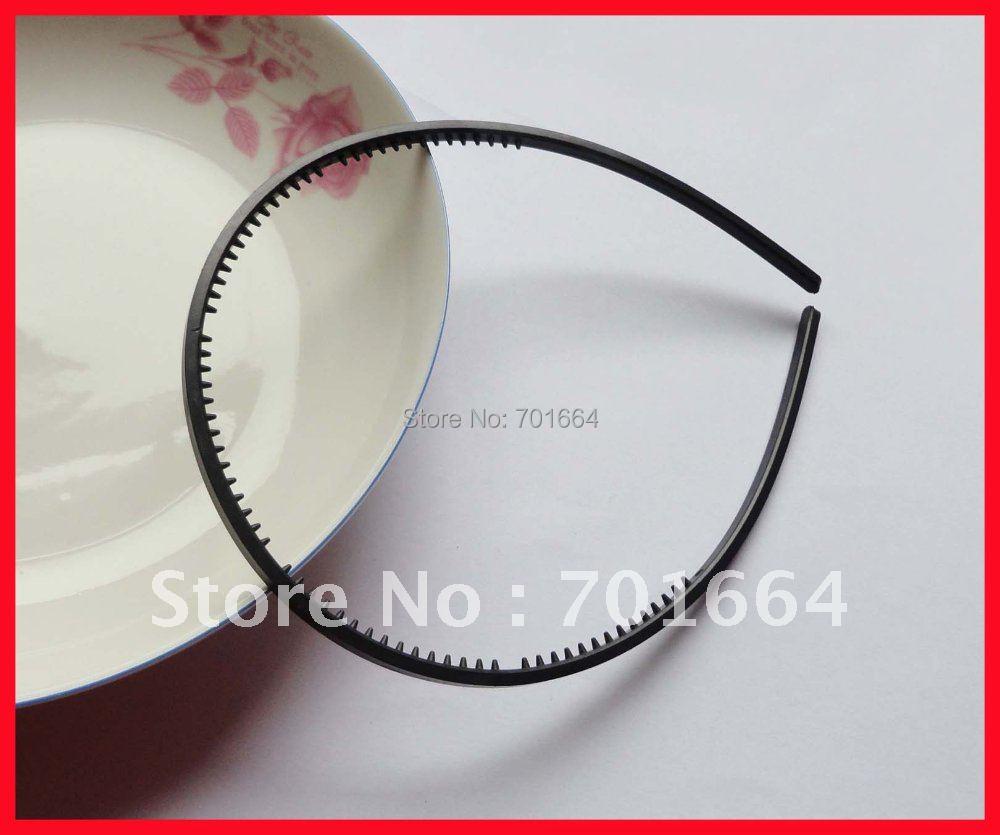 20PCS 4mm black plain plastic hair headbands with small teeth for Kids  handmade hair jewelry efee847fba9