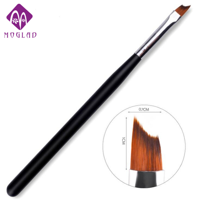 Moglad French Tip Nail Brush Acrylic UV Gel Drawing Painting Pen Black Handle Design Manicure Art Tool