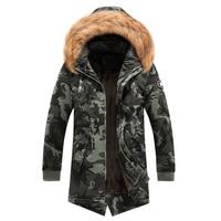 2018 New Casual Winter Jacket Men Hooded Warm Military Camo Coats Parkas Men Thick Medium Long Men's Cotton padded Jackets XXXL
