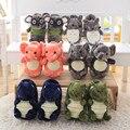 Freeshipping! 2016NEW! Dinosaurio elefante koala slipper totoro zapatillas para niños de Cumpleaños regalo de Navidad