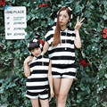 Madre e hija ropa verano madre e hija equipo de la raya demanda de paternidad movimiento femenino infantiles desgaste 20#