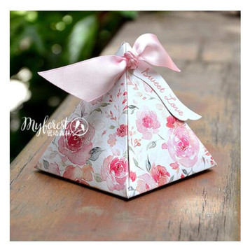 100Pcs/Lot PASAYIONE Korean Pink Candy Boxes With Ribbons&Tags Wedding Party Favors Casamento Accessories Souvenirs For Guests