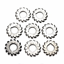 8pcs High Quality HSS M1 PA20 20 Degree Involute Gear Cutters Set #1-8 Assortment Kit For Milling Machine Tool