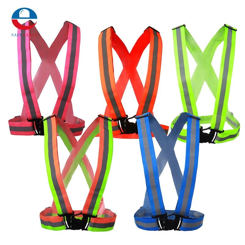 NEW Safe Reflective Vest Belt For Women Girls Night Running Jogging Biking Free Shipping new 629 00002 duplicator flat belt 15x0 65x519 fit for riso rv ev free shipping
