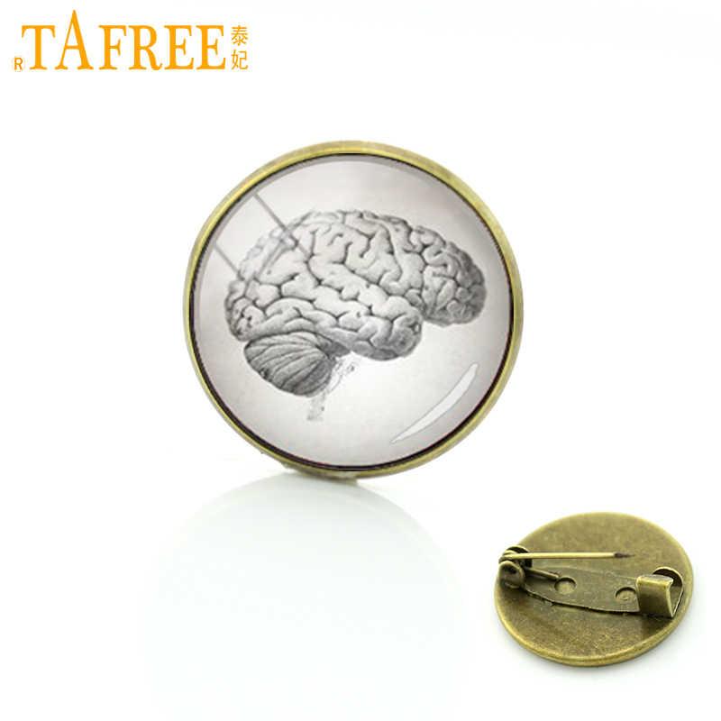 Tafree Anatomi Seni Gambar Otak Manusia Jantung Anatomi Tubuh Pin Anatomi Otak Bros Aksesoris Vintage Perhiasan Pria Wanita T236