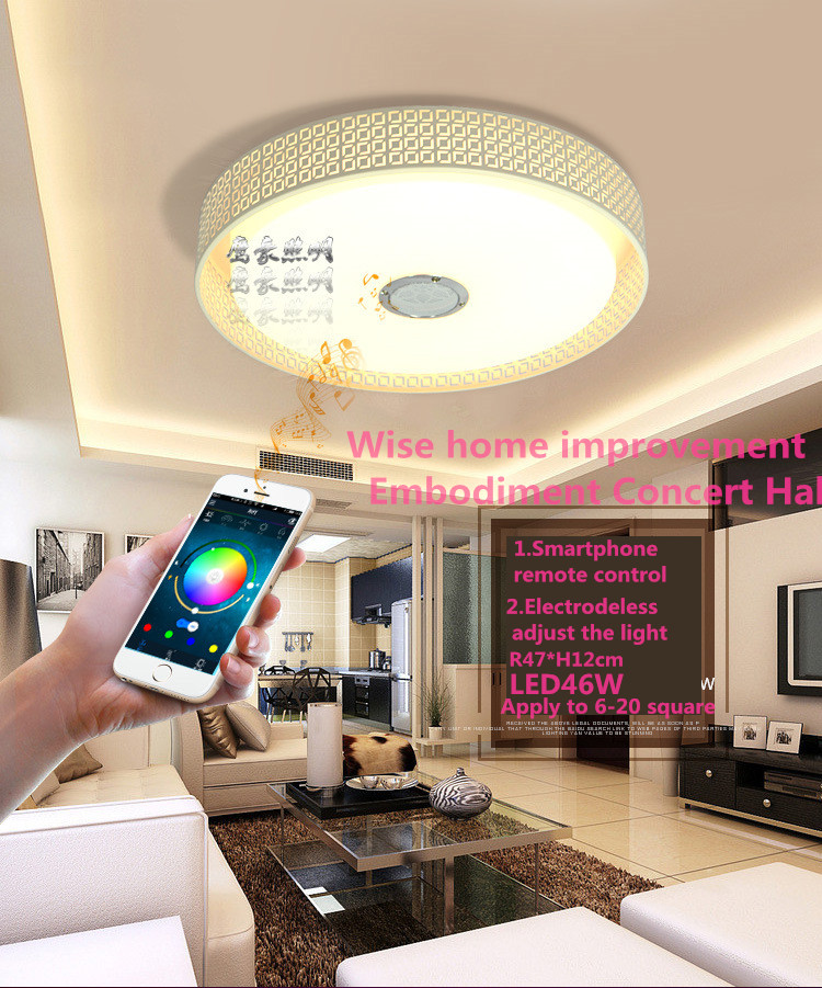 Modern Automatic Ceiling LED Overhead Panels Lights Bluetooth APP Remote  Control Lamps For Living Room Bedroom Kitchen L1Overhead Light Promotion Shop for Promotional Overhead Light on  . Living Room Overhead Lighting. Home Design Ideas