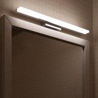 Já LEVOU Espelho de Luz 0.4 m ~ 1.2 m AC90-260V AC110-240V Cosmética Moderna Acrílico lâmpada de Parede lâmpada de Iluminação Do Banheiro À Prova D' Água