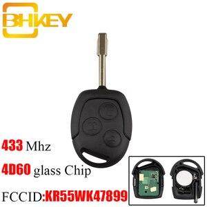 Image 1 - BHKEY 3 Bottoni Sostituzione Auto Chiave A Distanza di Fob Transponder Chip 4D60 433Mhz Per Ford Mondeo Focus Transit Completo completo chiave