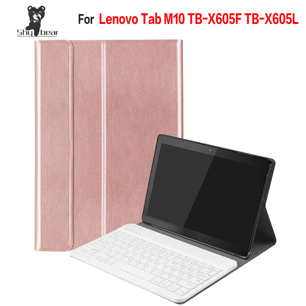 Accessory Cover Case for Lenovo Tab M10 TB X605F TB X605L Quality with Removable Detachable Bluetooth Keyboard