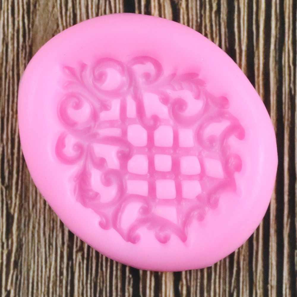 3D ตารางบรรเทาแม่พิมพ์ซิลิโคน Medallian Cupcake Topper Fondant แม่พิมพ์เค้กตกแต่งเครื่องมือลูกอมดินช็อกโกแลต Gumpaste แม่พิมพ์