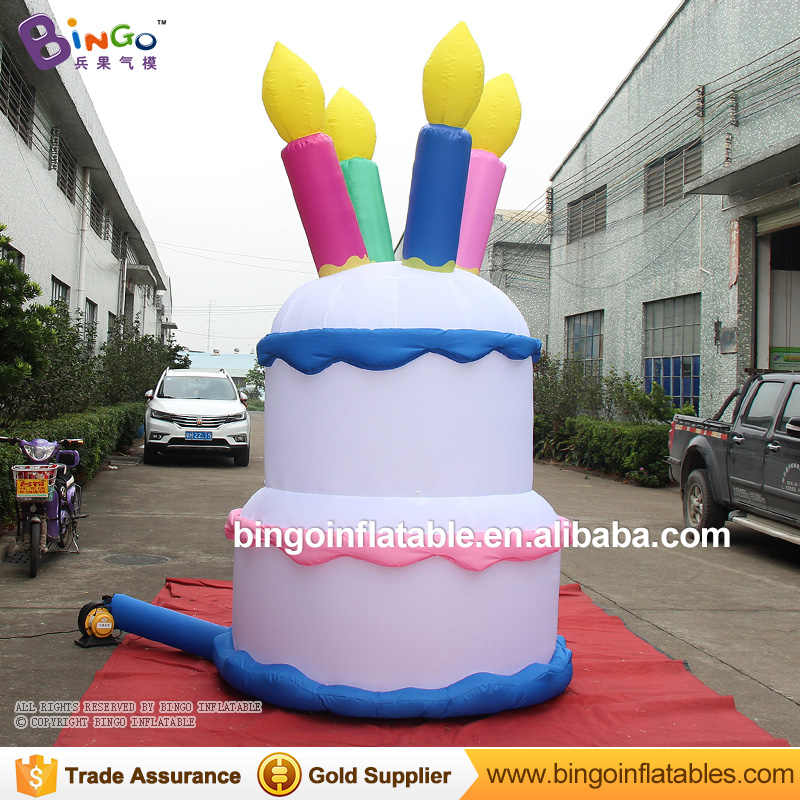 Amazing Free Delivery 3 Meters Tall Giant Inflatable Birthday Cake Replica Funny Birthday Cards Online Unhofree Goldxyz