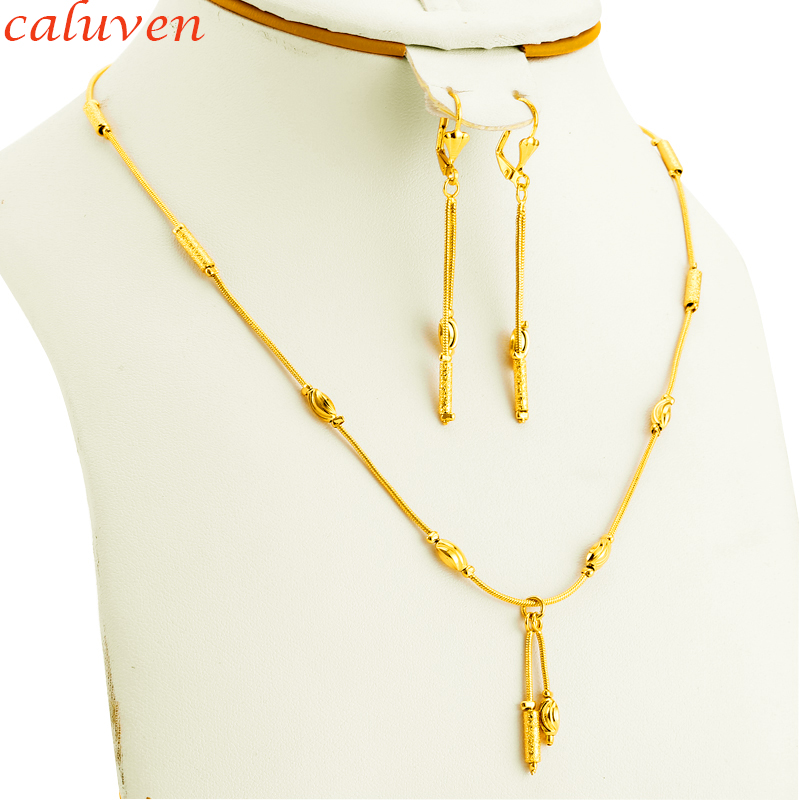 African Jewelry Round Beads Gold Color Ethiopian Jewelry Sets Women Party Decoration Jewelry Indian