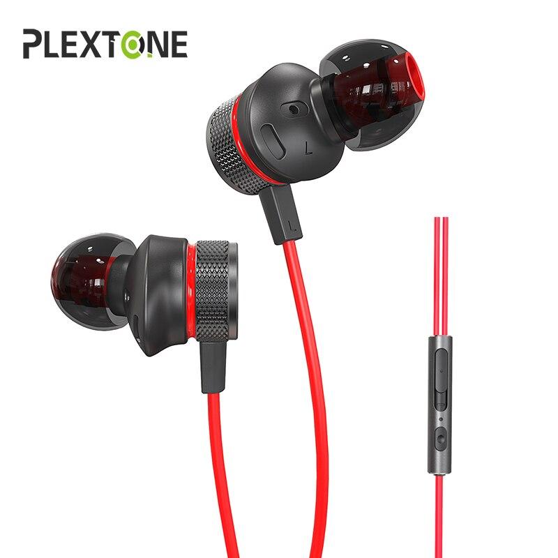 Plextone G15 auriculares con microfono 3,5mm con cable en la oreja Bajo Deportes Auriculares Earphone Headphones Gaming Headset el teléfono con MIC para ordenador running Cascos Gamer PS4 xiaomi iphone