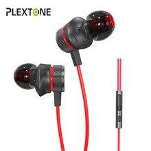 Plextone G15 наушники для телефона 3,5 мм проводной в ухо бас спортивные наушники игровые наушники С микрофоном наушник для компьютера Gamer PS4 айфон samsung гарнитура для телефона