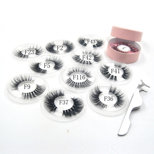 10styles individual mink lashes 3D eyelashes natural long invisible thin band stage lashes curl soft extensions circle rose box