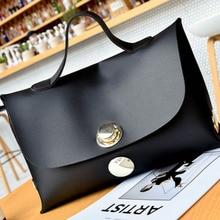 Hot sale Fashion Women Handbag Wind Soft Pure Color