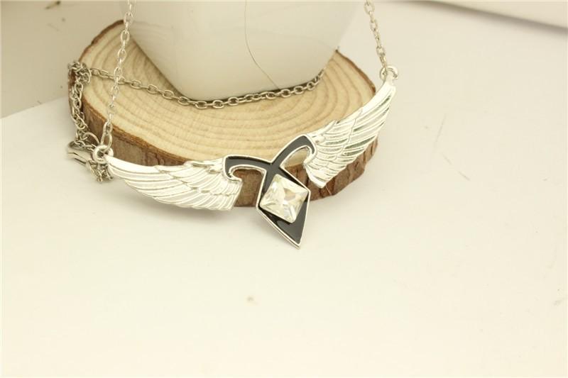 Mortal Instruments Angels Force Pendant Necklace