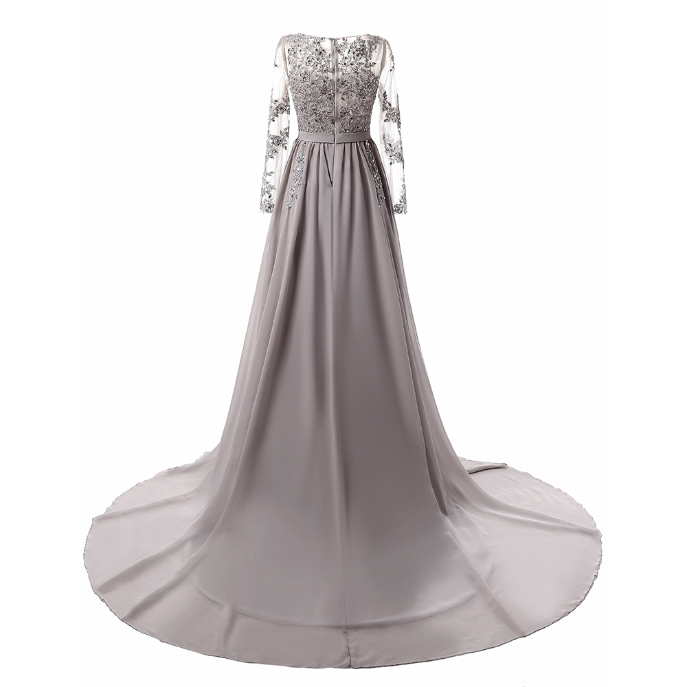 Robes de bal 2019 mode manches longues robes de soirée formelles élégante longue robe de bal - 3