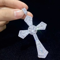 925 sterling silver with cubic zircon cross pendant high quality christian religious fashion women jewelry free shipping classic